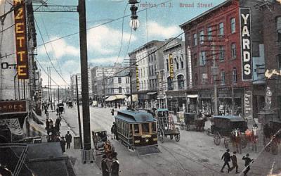 Broad Street Trenton, New Jersey Postcard