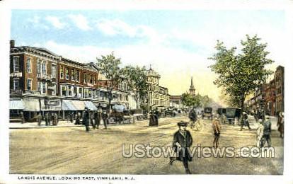 Landis Avenue - Vineland, New Jersey NJ Postcard