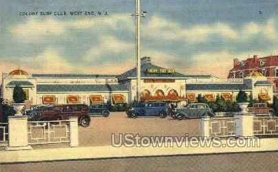 Colony Surf Club, Linen - West End, New Jersey NJ Postcard