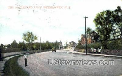 Boulevard Loop - Weehawken, New Jersey NJ Postcard