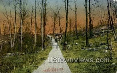 Lovers Lane - Weehawken, New Jersey NJ Postcard