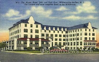 The Manor Hotel - Wildwood-by-the Sea, New Jersey NJ Postcard