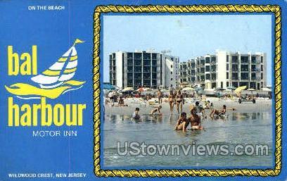 Bal Harbor Motor Inn - Wildwood Crest, New Jersey NJ Postcard