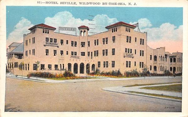 Hotel Seville Wildwood, New Jersey Postcard