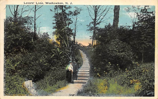 Lovers' Lane Weehawken, New Jersey Postcard