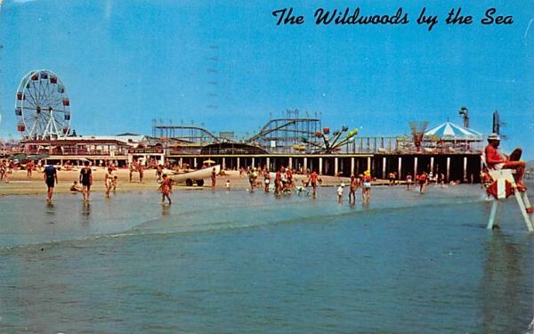 Marine Pier Wildwood, New Jersey Postcard