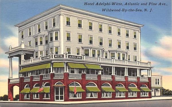 Hotel Adelphi-Witte Wildwood, New Jersey Postcard