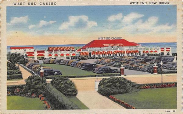 West End Casino New Jersey Postcard