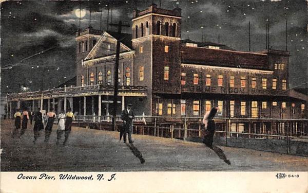 Ocean Pier Wildwood, New Jersey Postcard