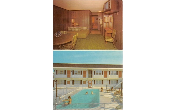 Pilgrim's Pride Motel Wildwood, New Jersey Postcard