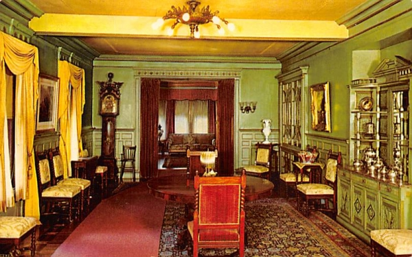 dining room at Glenmont West Orange, New Jersey Postcard