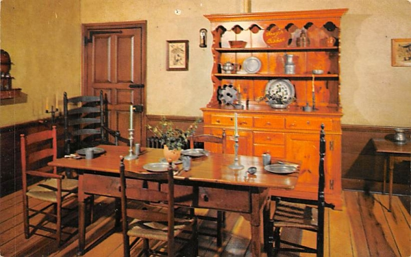 Kitchen Dining Area - McKonkey Ferry House Washington Crossing State Park, New Jersey Postcard