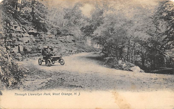 Through Llewellyn Park West Orange, New Jersey Postcard