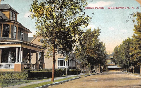 Brown Place Weehawken, New Jersey Postcard