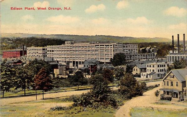 Edison Plant West Orange, New Jersey Postcard