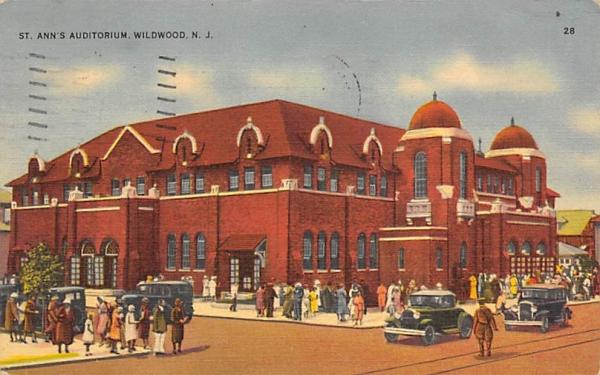 St. Ann's Auditorium  Wildwood, New Jersey Postcard