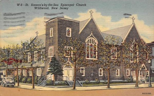 St. Simeon's by-the-Sea Episcopal Church Wildwood, New Jersey Postcard
