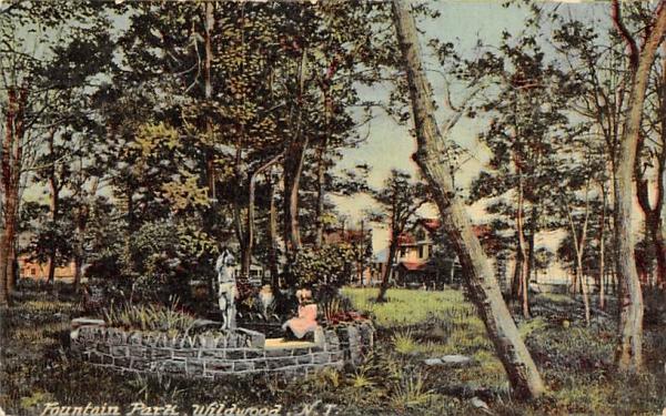 Fountain Park Wildwood, New Jersey Postcard
