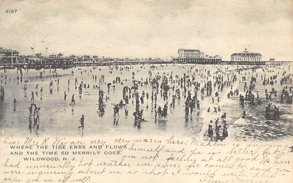 Where the Tide Ebbs and Flows Wildwood, New Jersey Postcard