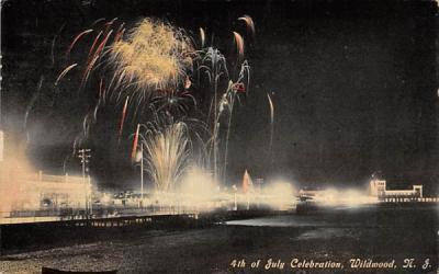 4th of July Celebration Wildwood, New Jersey Postcard