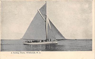 A Sailing Party Wildwood, New Jersey Postcard