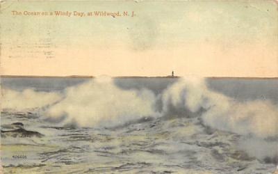 The Ocean on a Windy Day Wildwood, New Jersey Postcard