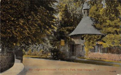The Lodge and Entrance, Llewellyn Park West Orange, New Jersey Postcard