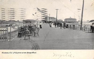 A Glimpse of the Board-Walk Wildwood, New Jersey Postcard