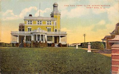 The New York Club West End, New Jersey Postcard