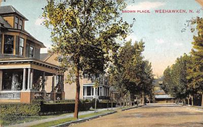 Brown Place Weehawken, New Jersey Postcard