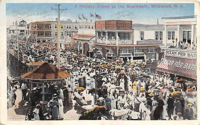 A Holiday Crowd on the Boardwalk Wildwood, New Jersey Postcard