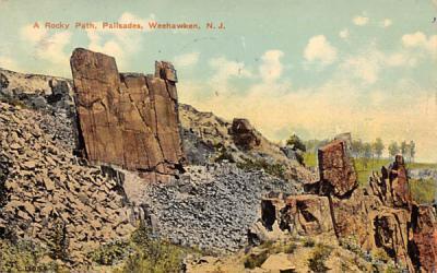 A Rocky Path, Palisades Weehawken, New Jersey Postcard