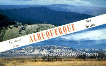 Sandia Mountain Range - Albuquerque, New Mexico NM Postcard