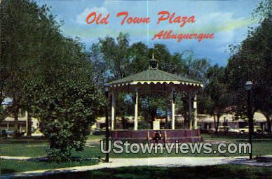 Old Town Plaza - Albuquerque, New Mexico NM Postcard