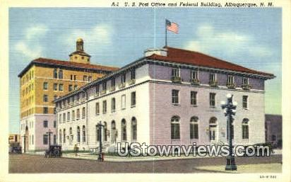 US Post Office - Albuquerque, New Mexico NM Postcard