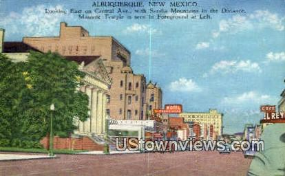Central Ave - Albuquerque, New Mexico NM Postcard