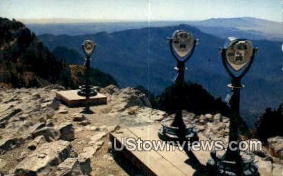 Binoculars, Sandia Crest - Albuquerque, New Mexico NM Postcard