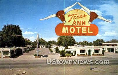 Texas Ann Motel - Albuquerque, New Mexico NM Postcard
