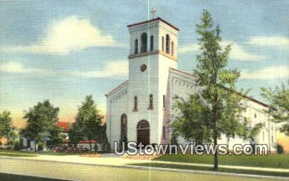 St Charles Church & Rectory - Albuquerque, New Mexico NM Postcard