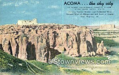 Acoma - Albuquerque, New Mexico NM Postcard