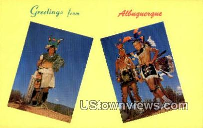 Albuquerque, NM     ;     Albuquerque, New Mexico Postcard