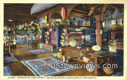 Fred Harvey Indian Bldg - Albuquerque, New Mexico NM Postcard