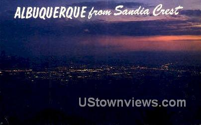Sandia Crest - Albuquerque, New Mexico NM Postcard