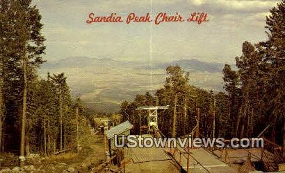 Sandia Peak Chair Lift - Albuquerque, New Mexico NM Postcard