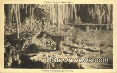 Fountain of Fairies, Lower Cave - Carlsbad Caverns, New Mexico NM Postcard