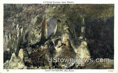 Giant Stalagmites - Carlsbad Caverns, New Mexico NM Postcard