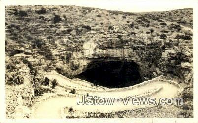 Real Photo - Entrance - Carlsbad Caverns, New Mexico NM Postcard