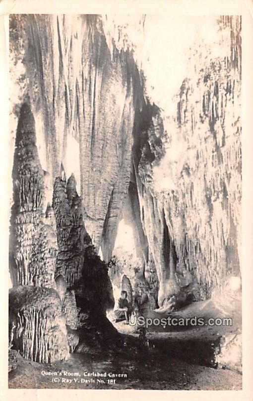 Queen's Room - Carlsbad Caverns, New Mexico NM Postcard