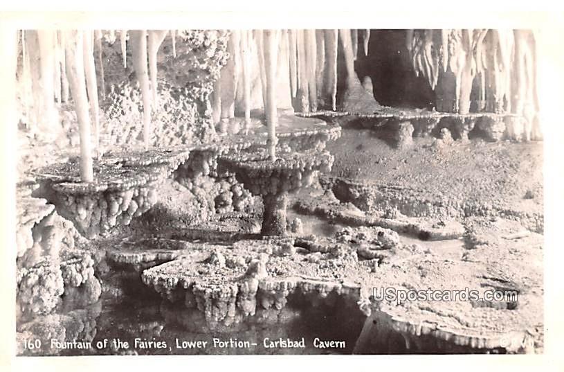 Fountain of the Fairies - Carlsbad Caverns, New Mexico NM Postcard