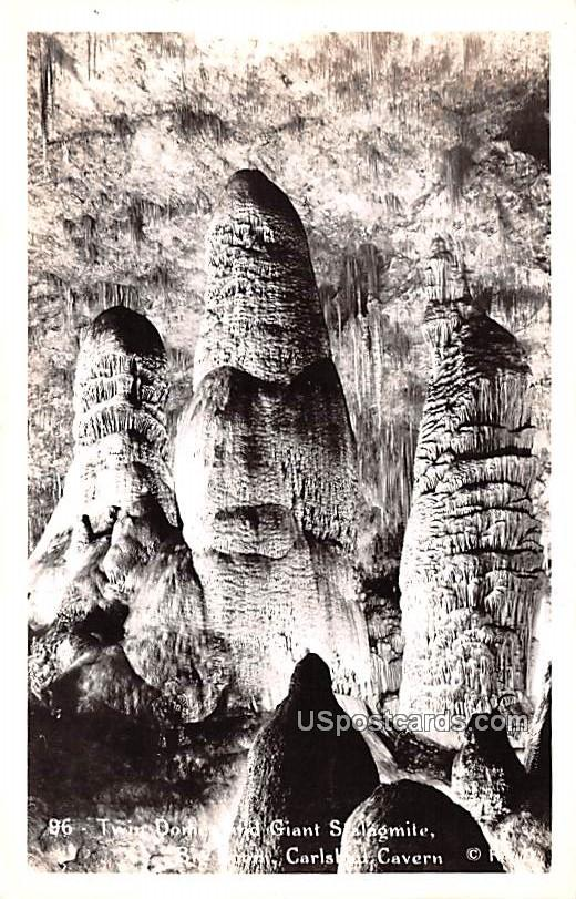 Twin Domes - Carlsbad Caverns, New Mexico NM Postcard